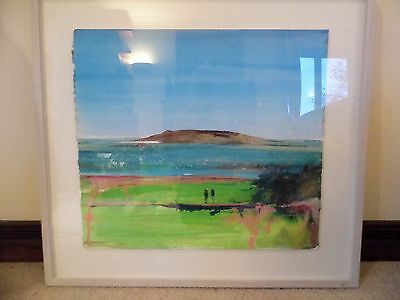 Kurt Jackson mixed media Across to Samson hill original painting