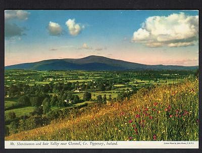 """Mt. SLIEVENAMON AND SUIR VALLEY Nr. CLONMEL"" Postcard Ireland Co.Tipperary"