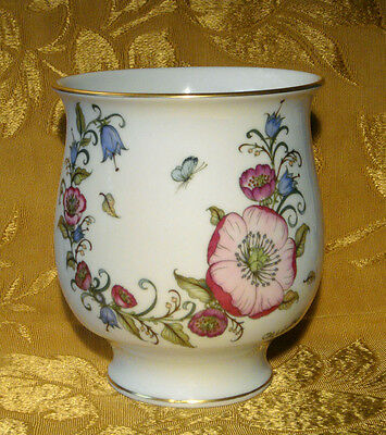 """Hutschenreuther Ole Winther Vase Flowers Butterfly 6"""" Made In Germany"""