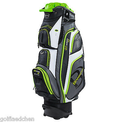 Bennington QO 14 Quiet Organizer Golfbag 2016 - Black/Grey/Lime - NEU - UVP 370€