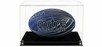 Acrylic Display Case for a Signed/Autographed Rugby Ball (Horizontally)