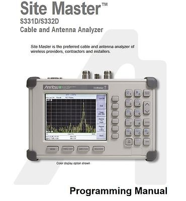 Anritsu Site Master Cable Analyzer S331D & S332D PDF Programming Manual on cd