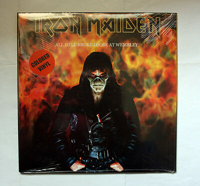 IRON MAIDEN All Hell Broke Loose At Wembley  500 HAND NUMBERED RED VINYL 2 LP