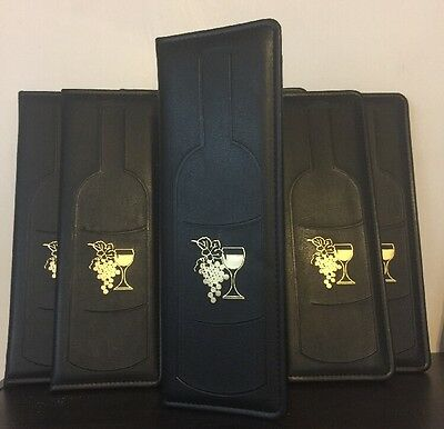 Lot Of 8 Wine Lists Menu Holder Cover Resturant / Bar Free Shipping