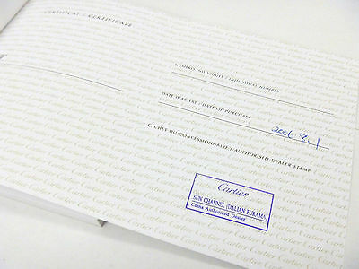 Cartier Watch Warranty Guarantee Certificate Booklet with Shop Stamp - RARE!!