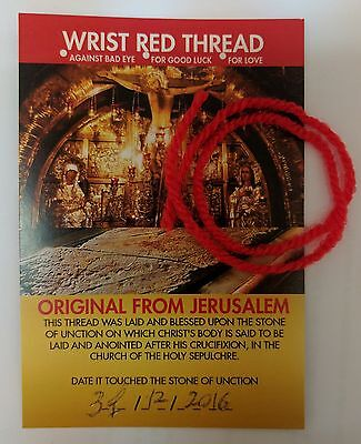Wrist Red Thread - Special Christian Gift/Souvenir from Jerusalem
