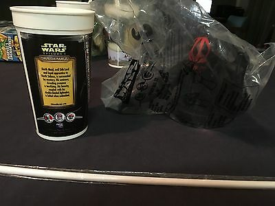 1999 Star Wars Episode I Darth Maul Cup Lid Straw Sealed