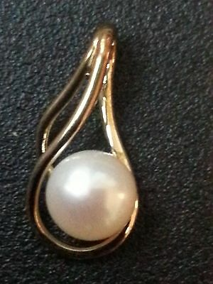 9ct Gold pendant with Freshwater Pearl - BRAND NEW RRP £79