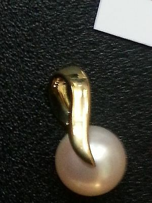 9ct Gold pendant with Freshwater Pearl - BRAND NEW RRP £95
