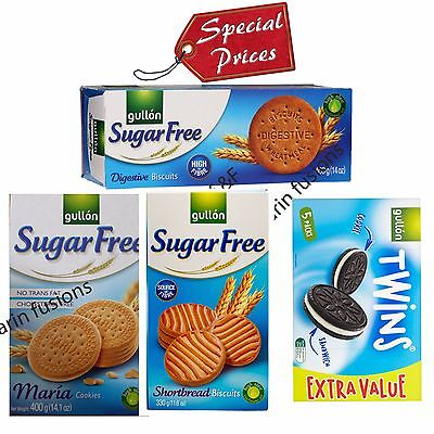 Gullon Sugar Free Digestive, Maria Cookie, short bread  Biscuits - Sugar Free