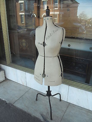 Adjustable Tailor's Mannequin On Stand / Vintage Style Dress Mannequin Dummy