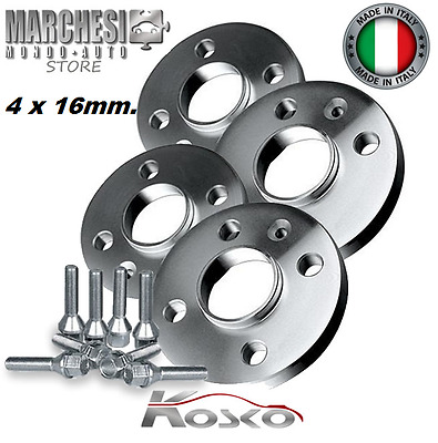 KIT 4 DISTANZIALI RUOTE 16 mm. SMART FORTWO TYPE 453 (4x100x60) 2014-> 4 FORI