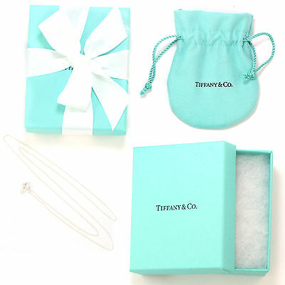 """Tiffany & Co Sterling Silver Chain Necklace, 20"""" (NEW w/ Box, Pouch, Ribbon)"""