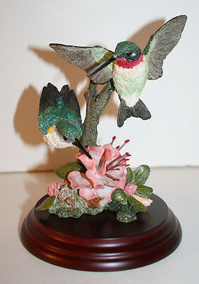 Ruby Throated Hummingbird Pair CA01398 Country Artists