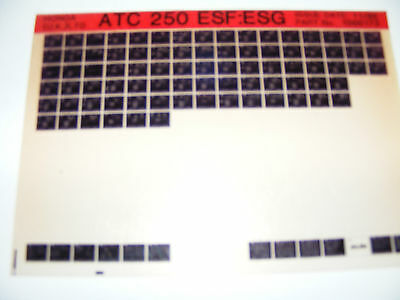 Honda Atc250 Esf-Esg  Part List   (Microfiche) Manual (Free Post In Uk Only)