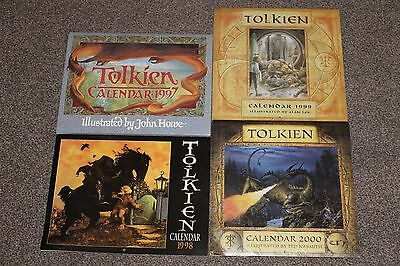 4 x  Tolkien Calendars 1997, 1998,1999 and 2000 2 sealed wrap 2 undone