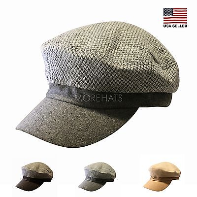 Unisex Mens Womens Warm Woven Wool Winter Cap Newsboy Fashion Korea Hat