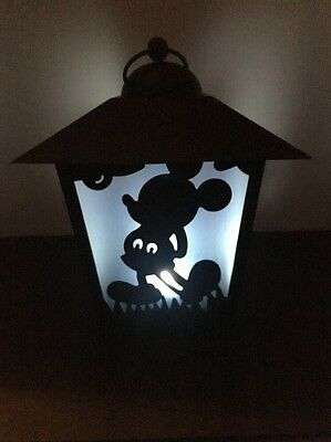 Disney Mickey Mouse Hanging Metal Lantern With Light Inside