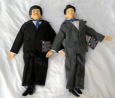 LAUREL & HARDY 17'' DOLLS FIGURES 1991 HAMILTON WITH TAGS Near Mint Condition
