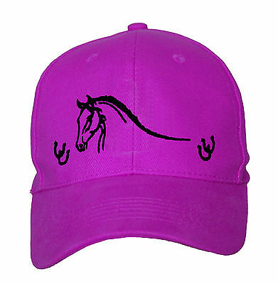 Horse Baseball Cap Hat Horse With Horse Shoes Brand New One Size Fits All