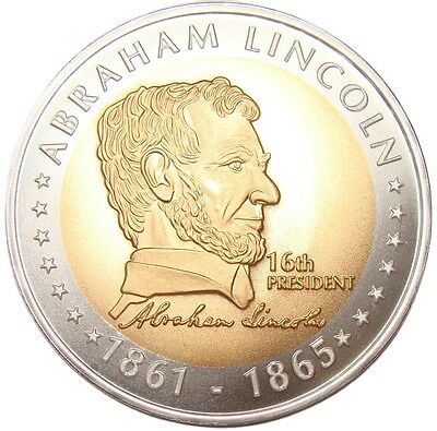 A456) Medaille Abraham Lincoln 1861-1865 Präsident USA Amerika US America Medal