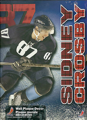"New 10""X12"" Wooden Plaque NHL Sidney Crosby Licensed NHLPA"