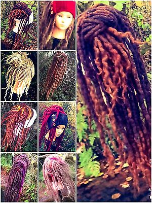 aYa Commissioned Order Dreadlock Head Fall 54 Single Ended Wool Hair Dreads Wig