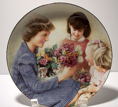 """The Princess Diana Plate Collection """"Flowers For Diana"""" by Barry Morgen"""