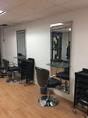 Salon Hairdresser Beauty Chair And Full Length Mirror Good Condition
