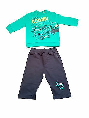 baby boys top and navy bottoms set 0-24 months, perfect to play in or as pyjamas