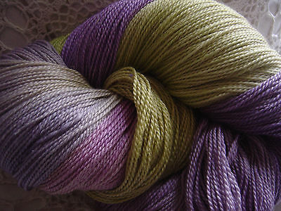 """Hand Dyed: Seacell Merino SeaWool 2/6 """"Water Hyacinth"""" 100 mt/ 10 avail"""