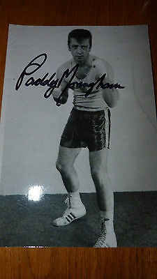 Signed Photo Of Bare Knuckle Champion Paddy Monaghan & Friend Of Muhammad Ali