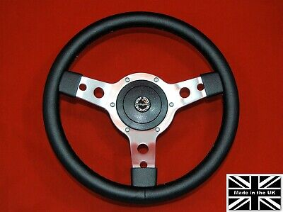 "13"" Classic Leather Steering Wheel & Hub for Triumph TR4, TR5 and TR6"
