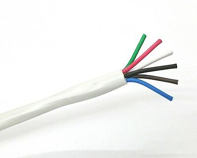 25' 6 Conductor 18 Gauge Unshielded Cable, CMR Rated 25 Foot Length ~ 6C 18AWG