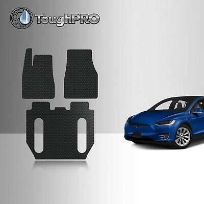 ToughPRO Floor Mats Set For 2017 Tesla Model X 6 Seater Without Center Console