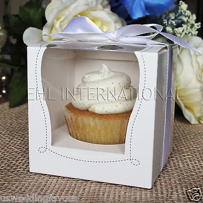 """25/50/100 White Cupcake Muffin Cake Boxes Party Shower Favor Gift Container 3.5"""""""