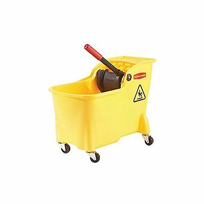 Rubbermaid Professional Plus Mop Bucket and Wringer Combo (FG728100YEL)...NEW