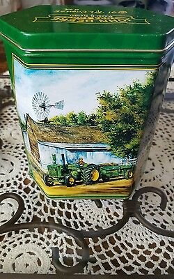 John Deere Hextagon Tin. (91 R.l.crouse) Used Nice Condition