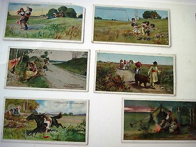 "Six Vintage German Advertising Cards by ""B.Sprengel & Co. for Chocolate (B)*"