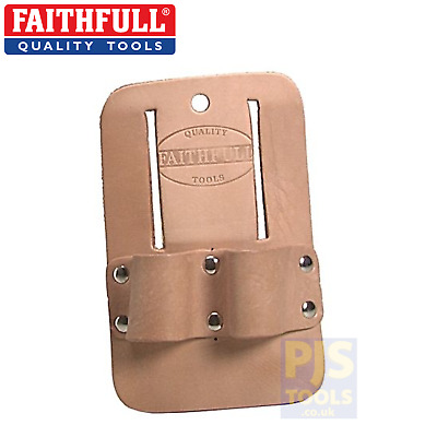 Faithfull FAISSHD heavy duty leather double scaffolders spanner holder frog