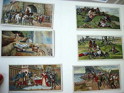 "Six Vintage German Advertising Cards by ""B.Sprengel & Co. for Chocolate (D) *"