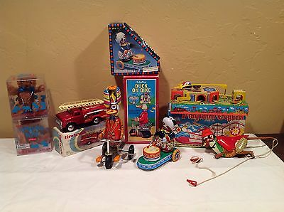 Huge Lot Of Reproduction Tin Wind Up Friction Toys