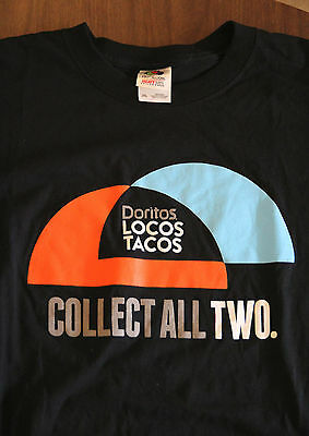Taco Bell Doritos Locos Taco Collect All Two Promo t-shirt Men's 2XL Fast Food