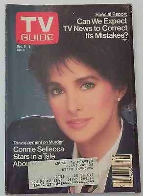 TV Guide Connie Sellecca December 5-11 1991 News Corrects Mistakes Back Issue