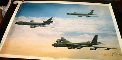 US Air Force BARKSDALE'S RESPONSE Aviation Art Print Signed Print LE 209/480
