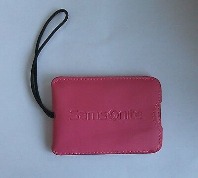 Pink Luggage Tag Samsonite Elasticized  With Blank Name Tag
