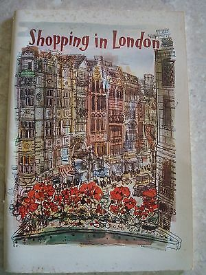 1950s - Shopping in London Booklet - British Travel & Holidays Association
