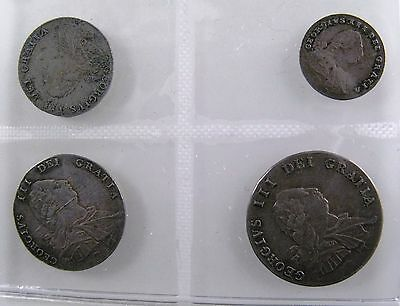 GREAT BRITAIN. 1792 Maundy Set, Silver, 1 Penny - 4 Pence. AU-UNC. Nicely Toned.