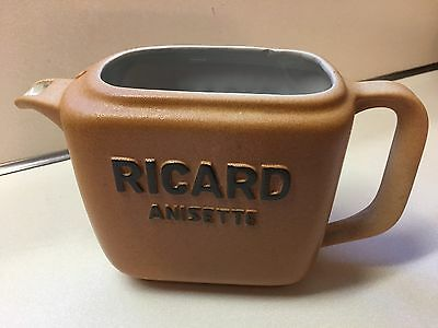 RICARD Anisette Pitcher Pastis Aperitif French Bistro Bar RARE VINTAGE
