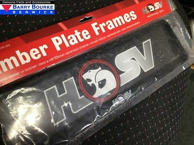 Holden HSV Slim Line Number Plate Cover (one only).
